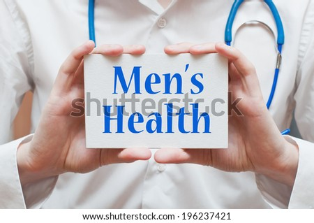 Men's Health concept - stock photo