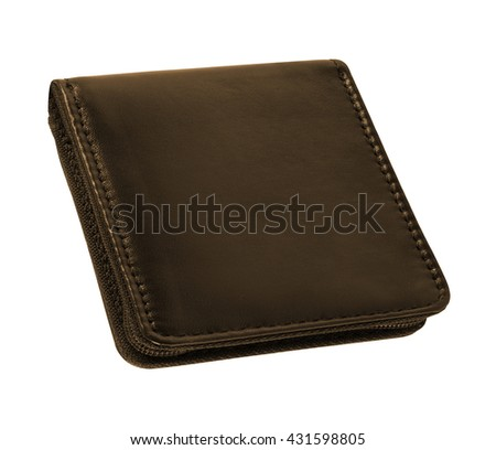 men's leather wallet isolated on white