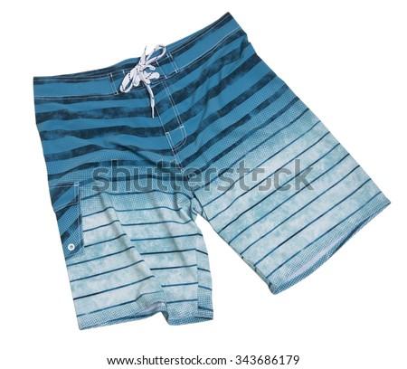 Men's Print Swim Trunks - stock photo