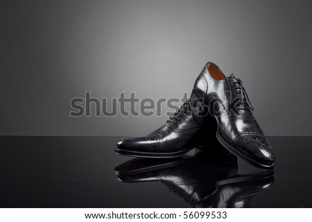 Men's shoes - stock photo