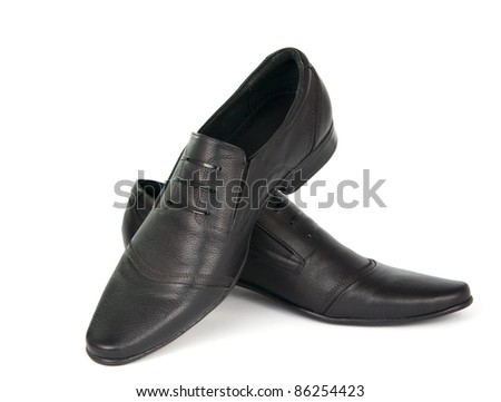 men's shoes on a white background - stock photo