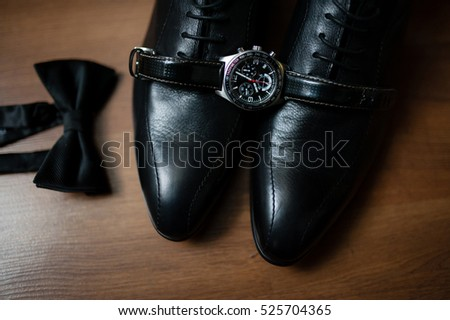 Men's shoes, watches and ties