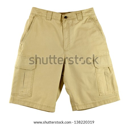 Men's shorts isolated on white background - stock photo