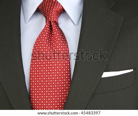 men's suit and tie - stock photo