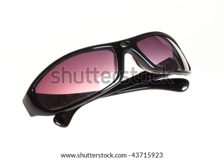 Men's sunglasses on a white background