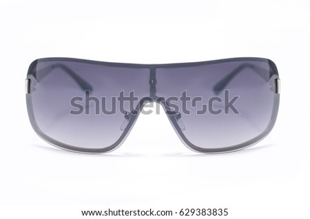 Men's sunglasses with black glasses Isolated on white