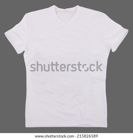 Men's t-shirt isolated on a gray background.