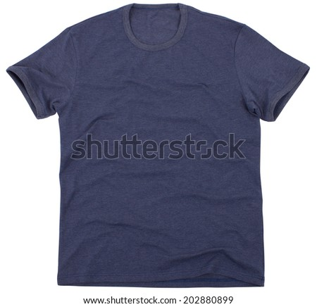 Men's t-shirt isolated on a white background. Clipping paths included.