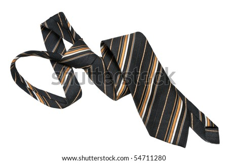 men's tie isolated on a white background - stock photo