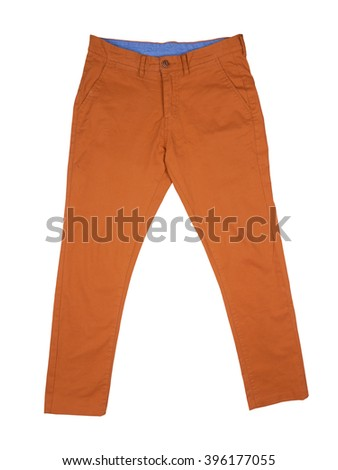 Men's trousers isolated on a white background - stock photo