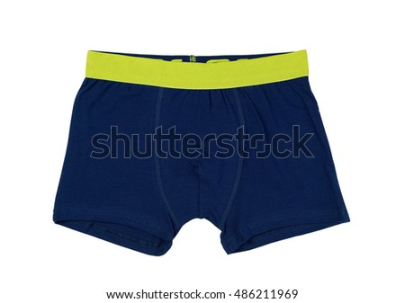 Men's underwear boxer shorts, isolate on a white background