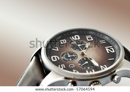 men's watch - stock photo