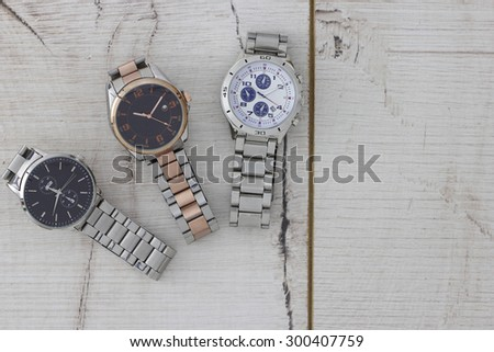 Men's Watches - stock photo