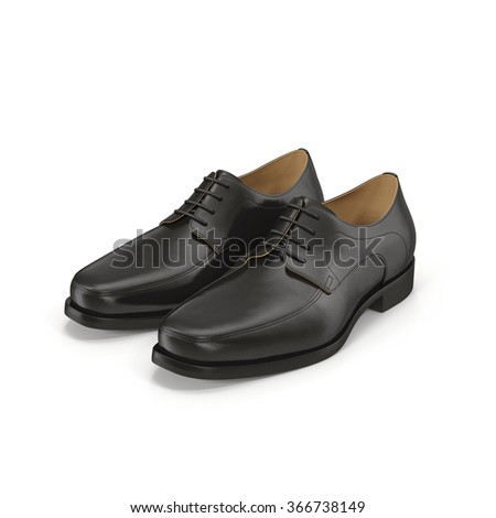 Men Shoes on White Background