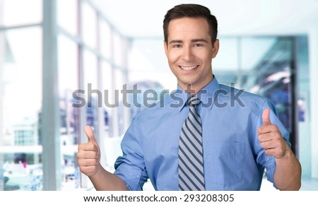 Men, Thumbs Up, Business. - stock photo