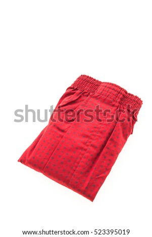 Men underwear OR Short Boxer for clothing isolated on white background