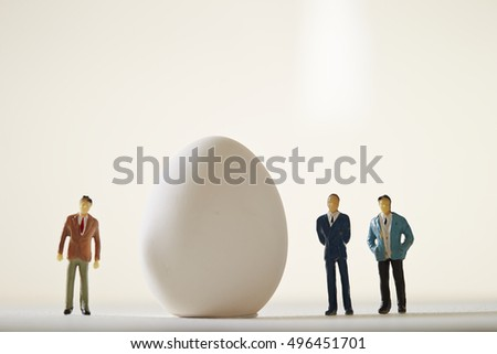 Men with egg