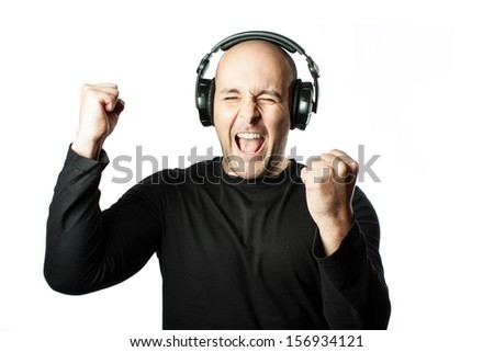 Men with headphones