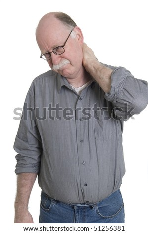 Men with pain in neck