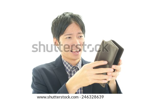 Men with purse - stock photo