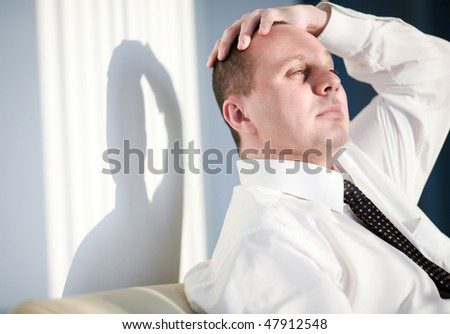 Men with short hairstyle - stock photo