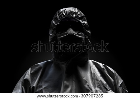 Menacing of man in the dark, halloween - stock photo