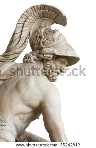 Menelaus (Loggia della Signoria, Florence, Italy) - stock photo