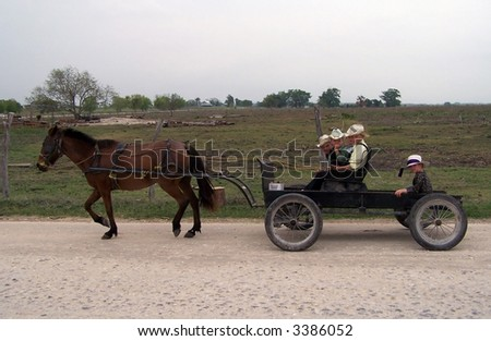 Mennonites of Belize - stock photo