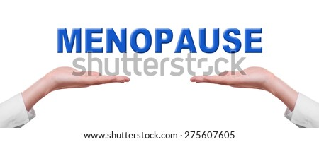 Menopause concept isolated on white - stock photo
