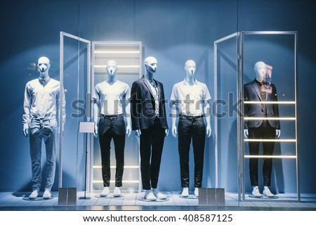 Mens clothing in a retail store. - stock photo