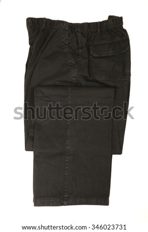 Mens dress pants trousers isolated against white background
