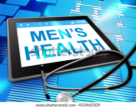 Mens Health Meaning Preventive Medicine And Man's - stock photo