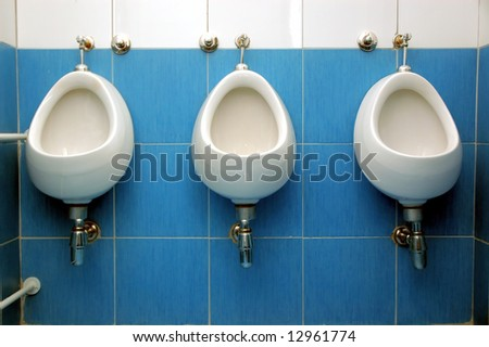 Mens public restroom. - stock photo