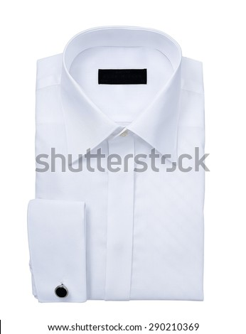 mens shirt isolated  on a white background. with an alpha channel