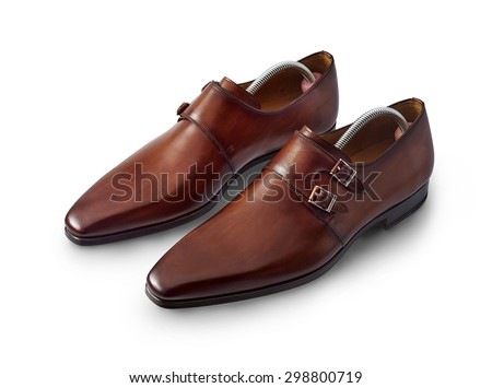 mens shoe isolated on white with a clipping path. - stock photo