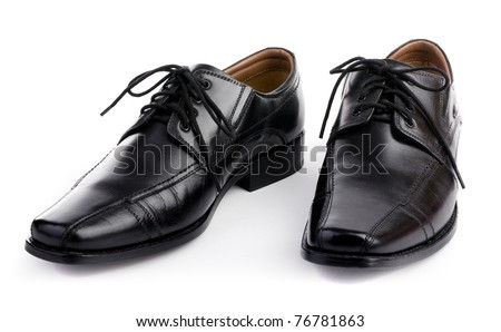 Mens shoes with white background - stock photo
