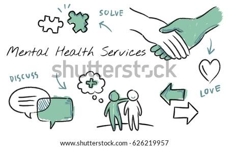 Mental Health Care Sketch Diagram Stock Illustration 626219957 ...