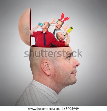 Mental health concept - Alcoholism. - stock photo