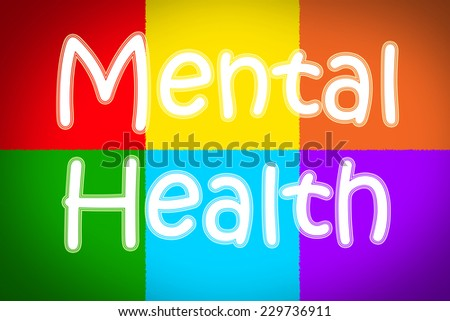 Mental Health Concept text on background - stock photo