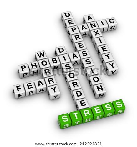 mental health crossword puzzle - stock photo