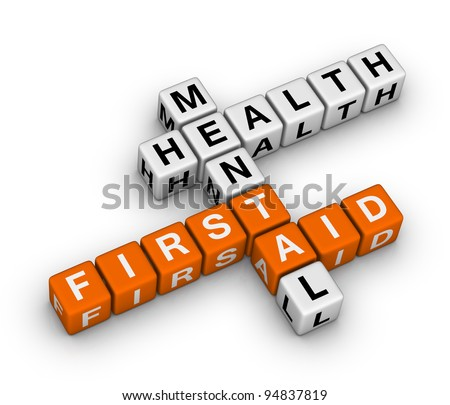 mental health first aid 3d crossword