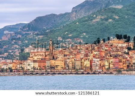 Menton, Cote d'Azur, France - stock photo