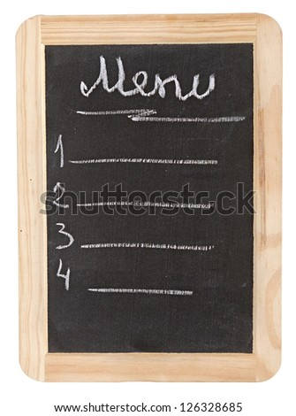 Menu blackboard. a space for writing on a black background.
