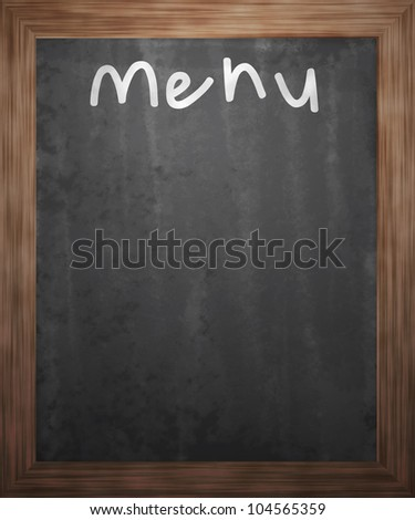Menu Blackboard Background - stock photo