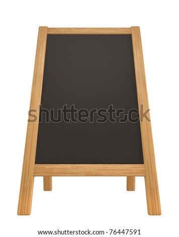 menu board isolated on white