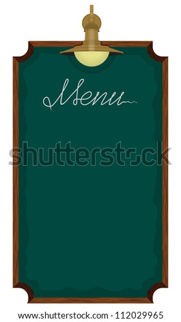 Menu board outside a restaurant or cafe - stock photo