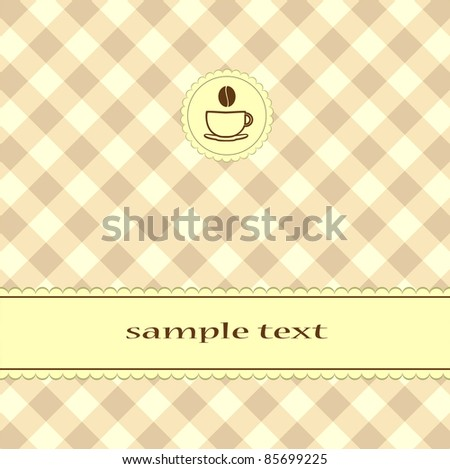 Menu Card Design - stock photo