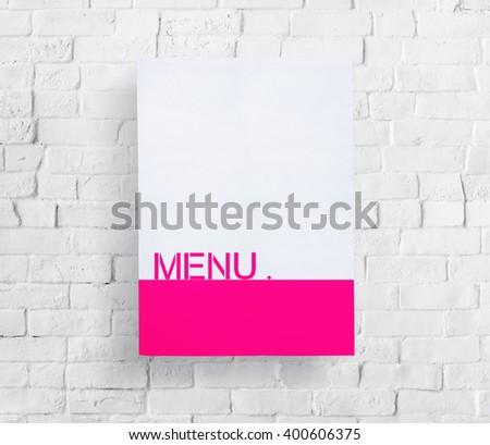 Menu Choice Selection Information Cafe Concept - stock photo