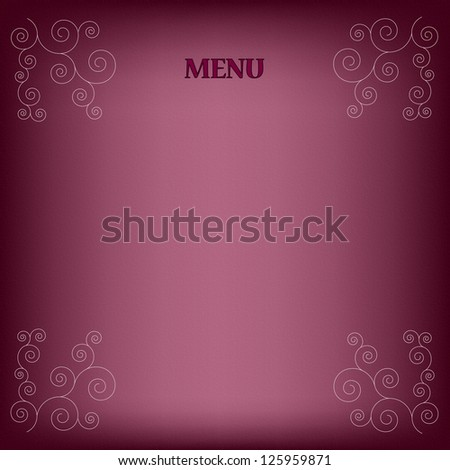Menu design for cafe, restaurant