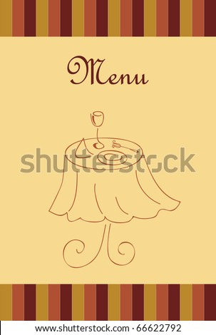 Menu for restaurant - stock photo